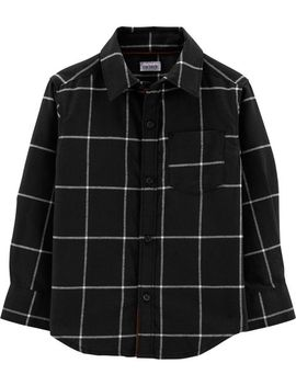 Checkered Twill Button Front Shirt by Carter's