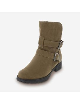Women's Neve Cozy Moto Boot by Learn About The Brand Brash