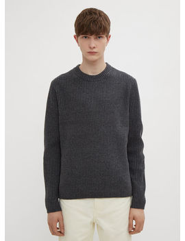 Ribbed Sweater In Grey by Acne Studios