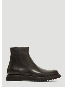 Creeper Slim Boots In Black by Rick Owens