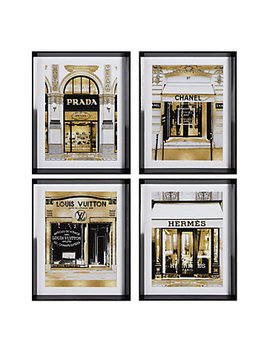Fashion Storefronts   Set Of 4 by Z Gallerie