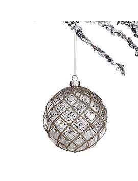 Beaded Mercury Ball Ornament by Z Gallerie