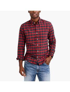 Slim Flex Oxford Shirt In Plaid by J.Crew