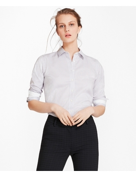 Non Iron Striped Cotton Twill Shirt by Brooks Brothers