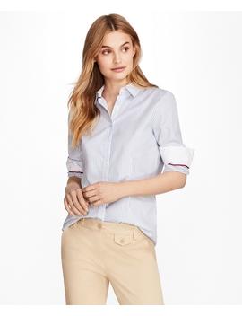Nine To Nine Dobby Stripe Stretch Cotton Shirt by Brooks Brothers