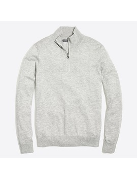 Tall Half Zip Sweater In Perfect Merino Wool Blend by J.Crew