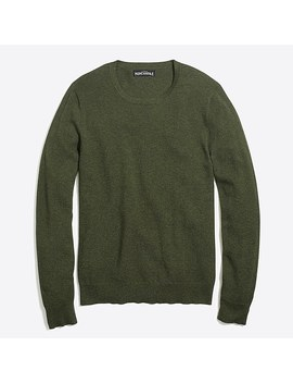 Tall Cotton Piqué Crewneck Sweater by J.Crew