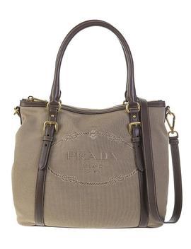 Logo Jacquard Handbag by Prada