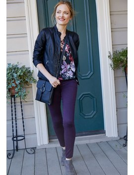 Denim Flex™ Midnight Mulberry Color Jegging by Maurices