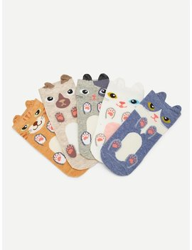 Tiermuster Socken 5 Paare by Sheinside