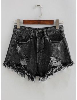 Zerrissene Jeansshorts by Shein