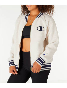 Women's Champion Sherpa Full Zip Bomber Jacket by Champion