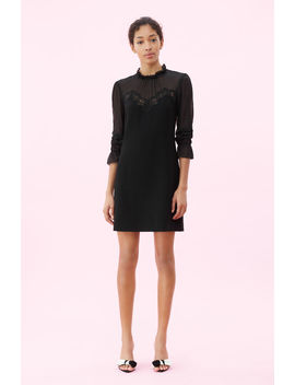 Crepe & Lace Dress by Rebecca Taylor