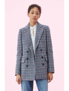 La Vie Doubleface Wool Plaid Coat by Rebecca Taylor