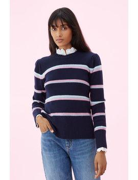 La Vie Multi Stripe Pullover by Rebecca Taylor