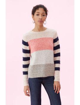 La Vie Soft Textured Stripe Pullover by Rebecca Taylor