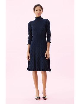 La Vie Diamond Pointelle Sweater Dress by Rebecca Taylor