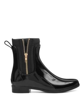 Cooscoos Zippered Rain Booties   Black Rubber by Nine West