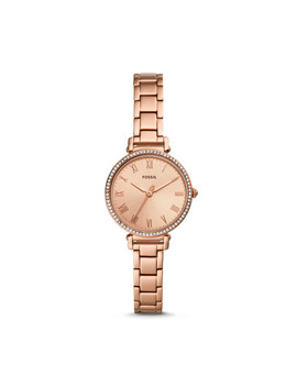 Kinsey Three Hand Rose Gold Tone Stainless Steel Watch by Fossil