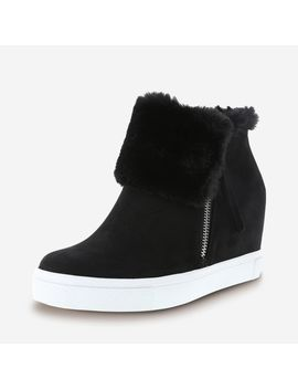 Women's Fur Cece Hidden Wedge Casual by Learn About The Brand Brash