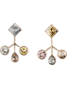 Peter Pilotto Arbol Pierced Earrings, Multi Colored, Rose Gold Plating by Swarovski