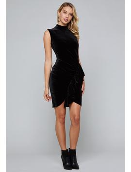 Ruffled Velvet Dress by Bebe