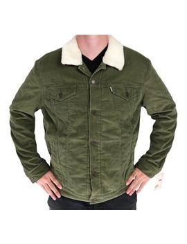 Levis Corduroy Sherpa Jacket Color Green 723360005 All Sizes *** by Generic