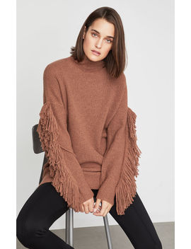 Fringe Turtleneck Tunic Sweater by Bcbgmaxazria