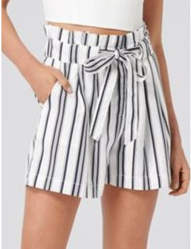 Lou Lou Paperbag Waist Shorts by Forever New