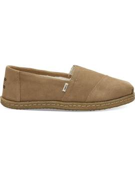 Toffee Suede Crepe Women's Classics by Toms