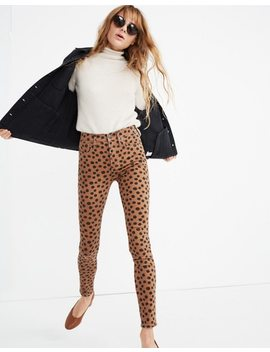 "Petite 10"" High Rise Skinny Jeans In Leopard Dot by Madewell"