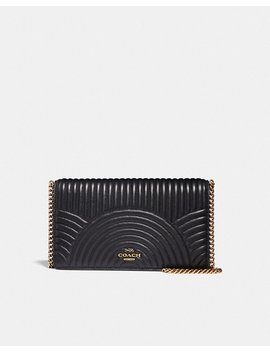 Callie Foldover Chain Clutch With Deco Quilting by Coach
