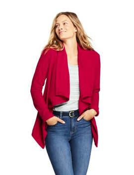 Women's Waterfall Fleece Cardigan by Lands' End