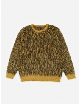 Leopard Mohair Sweater   Gold by Needles