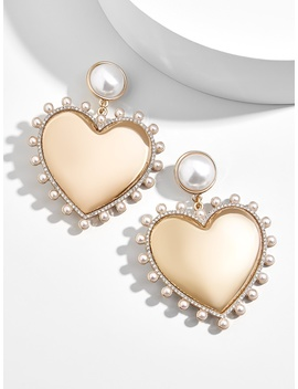 Amalia Pearl Heart Drop Earrings by Baublebar