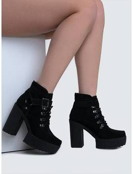 A8994 L Lace Up Harness Bootie by Zooshoo