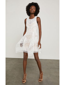 Sleeveless Abstract Lace Dress by Bcbgmaxazria