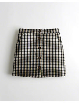 Stretch Ultra High Rise Oxford Skirt by Hollister