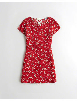 Lace Up Cap Sleeve Dress by Hollister