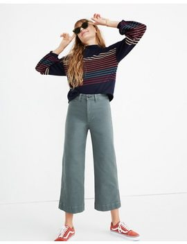 Petite Emmett Wide Leg Crop Pants by Madewell