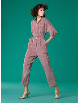 Short Sleeve Pocket Jumpsuit by Dvf