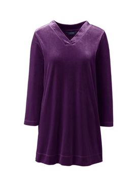 Women's 3/4 Sleeve Velvet Tunic by Lands' End