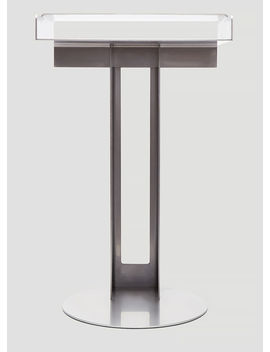 Meta Side Table In Silver by New Tendency