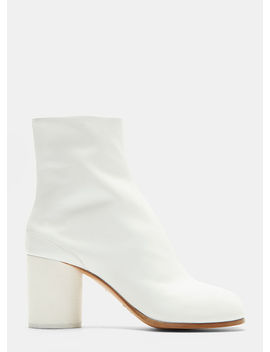 Tabi Ankle Boots In White by Maison Margiela