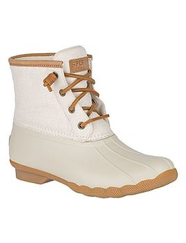 Women's Saltwater Metallic Duck Boot by Sperry
