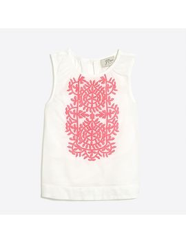 Girls' Embroidered Cotton Shell by J.Crew