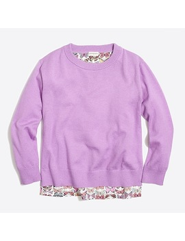 Girls' Butterfly Back Popover Sweater by J.Crew
