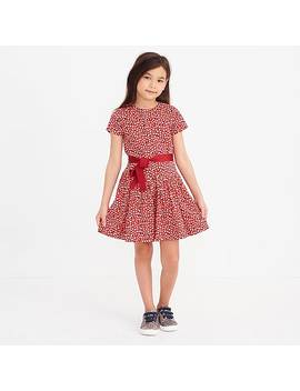 Girls' Heart Print Dress by J.Crew
