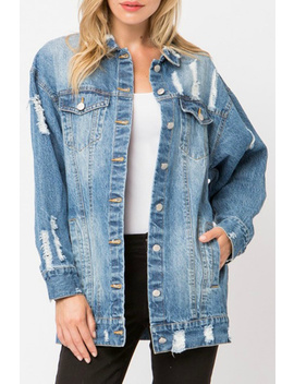 Distressed Denim Jacket by Modern Emporium, Dallas