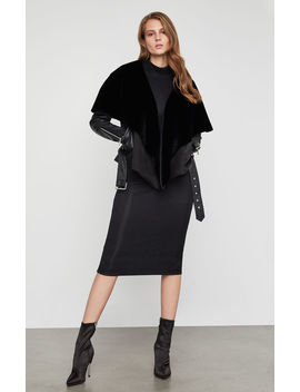 Jade Leather Capelet Jacket by Bcbgmaxazria